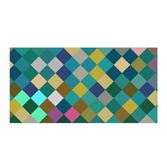 Rhombus pattern in retro colors Satin Wrap
