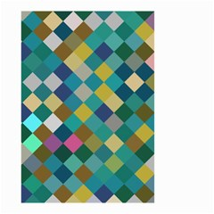 Rhombus pattern in retro colors Small Garden Flag