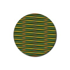 Diagonal Stripes Pattern Rubber Round Coaster (4 Pack)