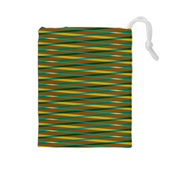 Diagonal Stripes Pattern Drawstring Pouch
