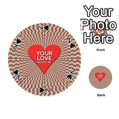 Your Love Moves Me Playing Cards 54 (Round)
