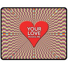 Your Love Moves Me Fleece Blanket (Medium)