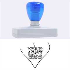Your Love Moves Me Rubber Address Stamps (xl)