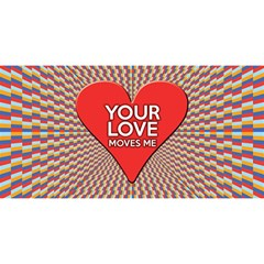 Your Love Moves Me YOU ARE INVITED 3D Greeting Card (8x4)