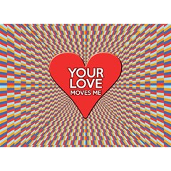 Your Love Moves Me Birthday Cake 3D Greeting Card (7x5)