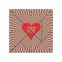 Your Love Moves Me Acrylic Tangram Puzzle (4  X 4 )