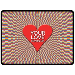Your Love Moves Me Double Sided Fleece Blanket (Large)