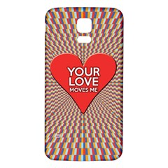 Your Love Moves Me Samsung Galaxy S5 Back Case (white)