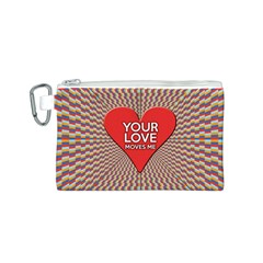 Your Love Moves Me Canvas Cosmetic Bag (S)