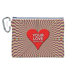 Your Love Moves Me Canvas Cosmetic Bag (L)