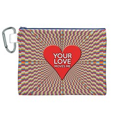 Your Love Moves Me Canvas Cosmetic Bag (XL)