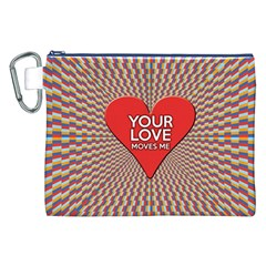 Your Love Moves Me Canvas Cosmetic Bag (XXL)
