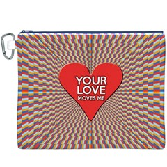 Your Love Moves Me Canvas Cosmetic Bag (XXXL)