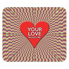Your Love Moves Me Double Sided Flano Blanket (small)