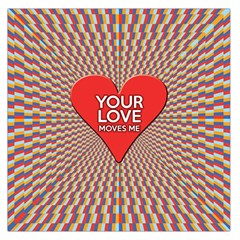 Your Love Moves Me Large Satin Scarf (Square)