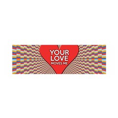 Your Love Moves Me Satin Scarf (Oblong)