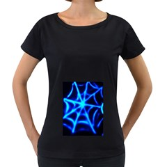 Neon web Women s Loose-Fit T-Shirt (Black)