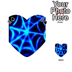 Neon Web Playing Cards 54 (heart)