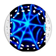 Neon Web Ornament (round Filigree)