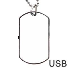Neon web Dog Tag USB Flash (Two Sides)