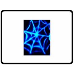 Neon web Double Sided Fleece Blanket (Large)