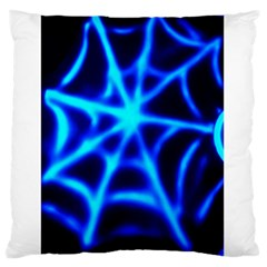 Neon Web Large Flano Cushion Cases (two Sides)