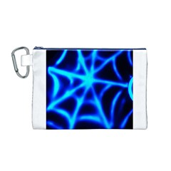 Neon web Canvas Cosmetic Bag (M)