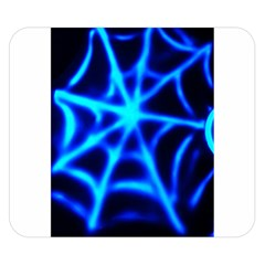 Neon web Double Sided Flano Blanket (Small)