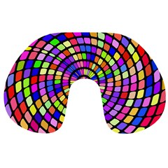 Colorful whirlpool Travel Neck Pillow