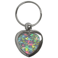 Pastel Scattered Pieces Key Chain (heart)