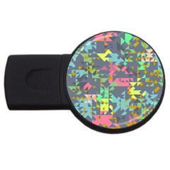 Pastel Scattered Pieces Usb Flash Drive Round (4 Gb)