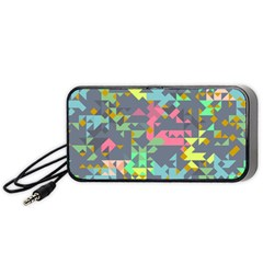 Pastel scattered pieces Portable Speaker