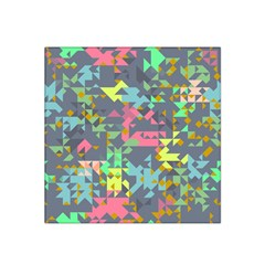 Pastel scattered pieces Satin Bandana Scarf