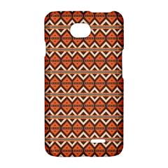 Brown orange rhombus patternLG Optimus L70 Hardshell Case