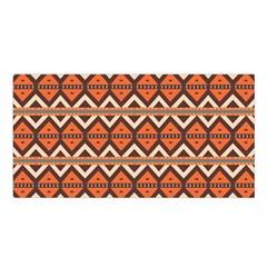 Brown orange rhombus pattern Satin Shawl