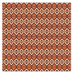 Brown orange rhombus pattern Satin Scarf
