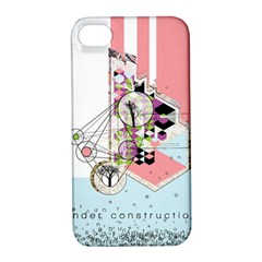 Under Construction Apple Iphone 4/4s Hardshell Case With Stand