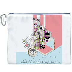 Under Construction Canvas Cosmetic Bag (XXXL)