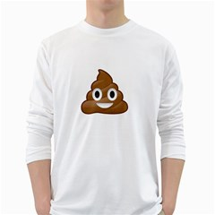 Poop White Long Sleeve T Shirts