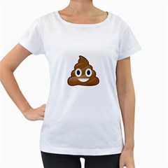 Poop Women s Loose Fit T Shirt (white)