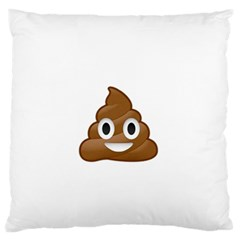 Poop Large Flano Cushion Cases (One Side)