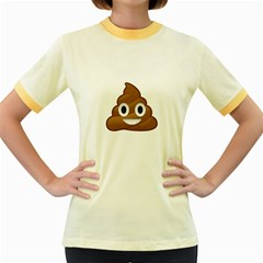 Poop Women s Fitted Ringer T-Shirts