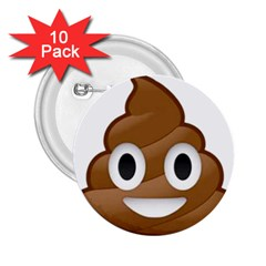 Poop 2 25  Buttons (10 Pack)