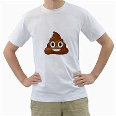 Poop Men s T Shirt (white) (two Sided)