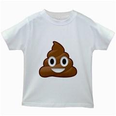 Poop Kids White T Shirts