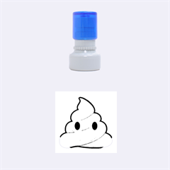 Poop Rubber Round Stamps (Small)