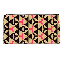 Shapes In Triangles Pattern Pencil Case