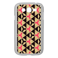 Shapes In Triangles Pattern Samsung Galaxy Grand Duos I9082 Case (white)