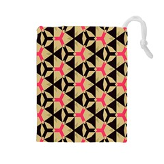 Shapes In Triangles Pattern Drawstring Pouch
