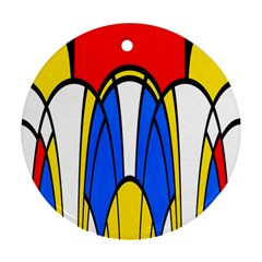 Colorful Distorted Shapes Round Ornament (two Sides)